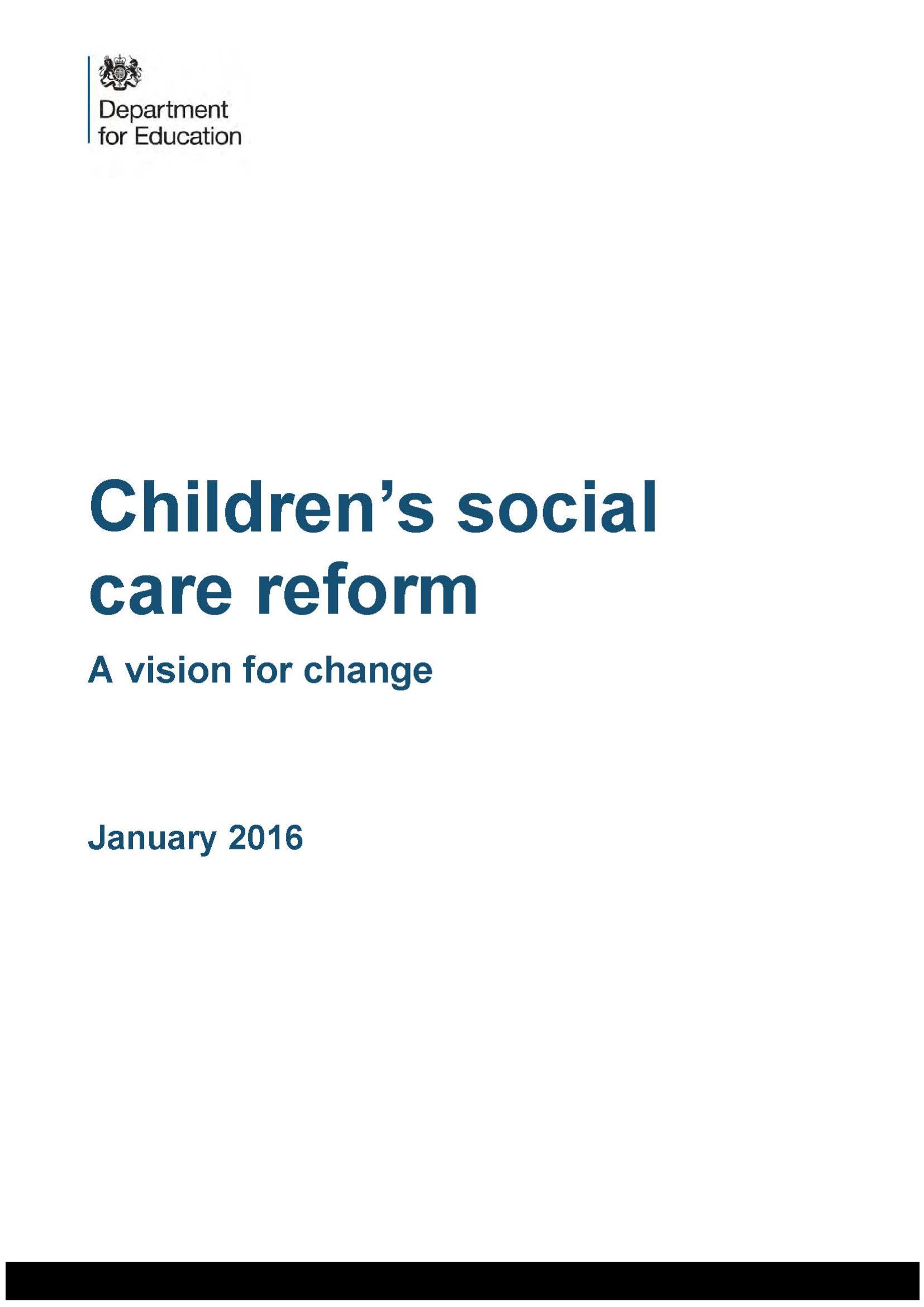 Children's Social Care Reform